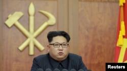 Ким Чен Ын выступает с новогодним обращением к стране