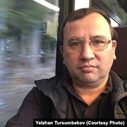Ожидающий политического убежища в Швейцарии полковник КНБ в отставке Елжан Турсумбеков едет в Женеву на электричке. 1 января 2019 года.