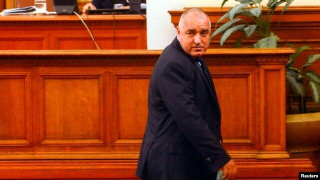 Premierul Boiko Borisov după prezentarea demisiei în Parlament