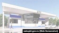 Будущий пост ДПС у Керченского моста