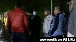 Узбекистанцы, содержащиеся на карантине в санатории «Энергетик сихатгохи». Кадр из видеозаписи.
