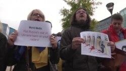 No Putin No War – акція в Брюсселі