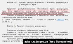 Закон про місцеві референдуми України визначає відповідальність за порушення його положень