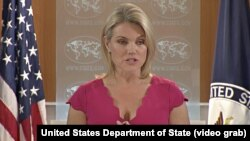 U.S. State Department spokeswoman Heather Nauert (file photo)