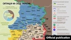 Ситуація в зоні бойових дій на Донбасі 2 травня – карта