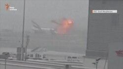 На летовищі в Дубаї літак здійснив аварійну посадку (відео)