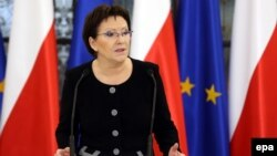 Кандидатката за нов премиер на Полска Ева Копач.
