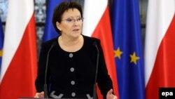 Польша премьер-министрі Эва Копач.