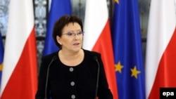 Kryeministrja polake, Ewa Kopacz