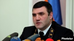 Armenia - Prosecutor-General Gevorg Kostanian gives a news conference, Yerevan, 11Dec2015.