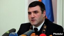 Armenia - Prosecutor-General Gevorg Kostanian gives a news conference, Yerevan, 11Dec2015.