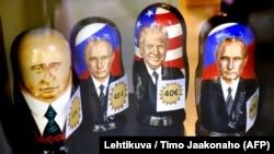 В Хельсинки, где пройдет саммит, уже продают «матрешки» с изображением Трампа и Путина