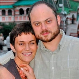 Vladimir Kara-Murza and his wife Yevgeniya