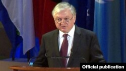 France - Armenian Foreign Minister Edward Nalbandian addresses the 37th cession of the UNESCO's General Conference, Paris,11Nov,2013