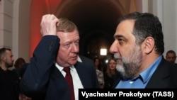 Рубен Варданян (справа) и Анатолий Чубайс, Москва, ноябрь 2018