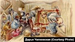 """Страница из тетради воспоминаний Евфросиньи Керсновской. """"Пытка стыдом"""""""