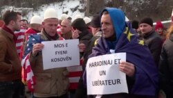 Протести во Скопје за апсењето на Харадинај
