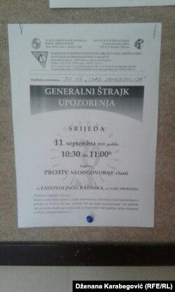 Poziv u sarajevskim školama na štrajk solidarnosti sa kolegama u Unsko-sanskom kantonu