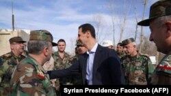 Bašar al-Asad u istočnoj Guti 18. marta 2018.