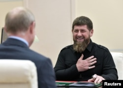 Рамзан Кадыров на приеме у Владимира Путина