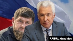 Рамзан Кадыров и Владимир Васильев (коллаж)