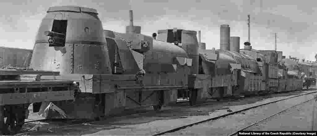 ...and capturing this armored train from the Bolsheviks.