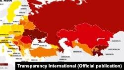 Globalni barometar korupcije 2016., mapa