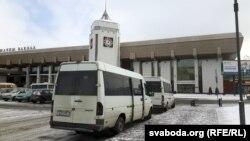 Маршрутка каля гчыгуначнага вакзалу ў Горадні