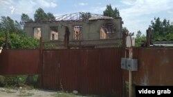 2008 წლის ომის დროს დანგრეული სახლი სოფელ ზარდიაანთკარში