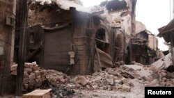 ویرانههای شهر قدیمی حلب