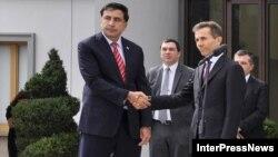 Presidenti Mikheil Saakashvili dhe kryeministri Bidzina Ivanishvili