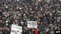 Arhivski snimak: Protesti Albanaca u Preševu, 06. januar 2009.