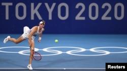 Елена Рыбакина Токио олимпиадасында.