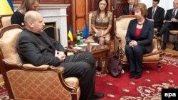 Переговоры Кэтрин Эштон и Александра Турчинова в Киеве