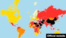 """Индекс свободы прессы от """"Репортеров без границ"""""""