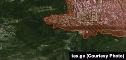 წითლად შემოსაზღვრული არეალი ისტორიული განაშენიანების ზონაა, მწვანედ შემოსაზღვრული ლანდშაფტური დაცვის ზონა.