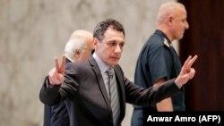 نزار زکا در کاخ ریاستجمهوری لبنان.