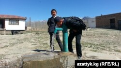 Kyrgyzstan. Talas. Sasyk-Bulak. April 28, 2014
