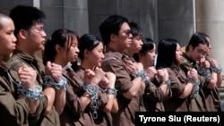 Студенты, участники демонстрации протеста против закона об экстрадиции. 8 июня 2019 года