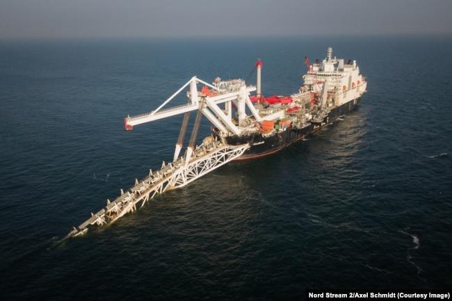 """Строительство подводного газопровода """"Северный поток-2"""""""