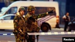 Військові на вулиці Брюсселя після нападу 20 червня 2017 року