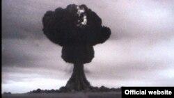 Первое испытание атомной бомбы на Семипалатинском полигоне в августе 1949 года.