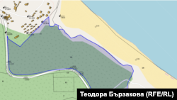 Информацията в обществения кадастър за частния имот зад плаж Корал