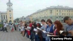 Акция в Ангарске. Фото предоставлено общественной организацией «Центр Правозащиты»
