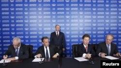 Путин на потпишувањето на проектот Јужен тек во Сочи