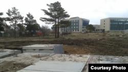 Астанадағы бұрын саяжай болған №131 жер теліміндегі канализация сорғысының құрылысы.