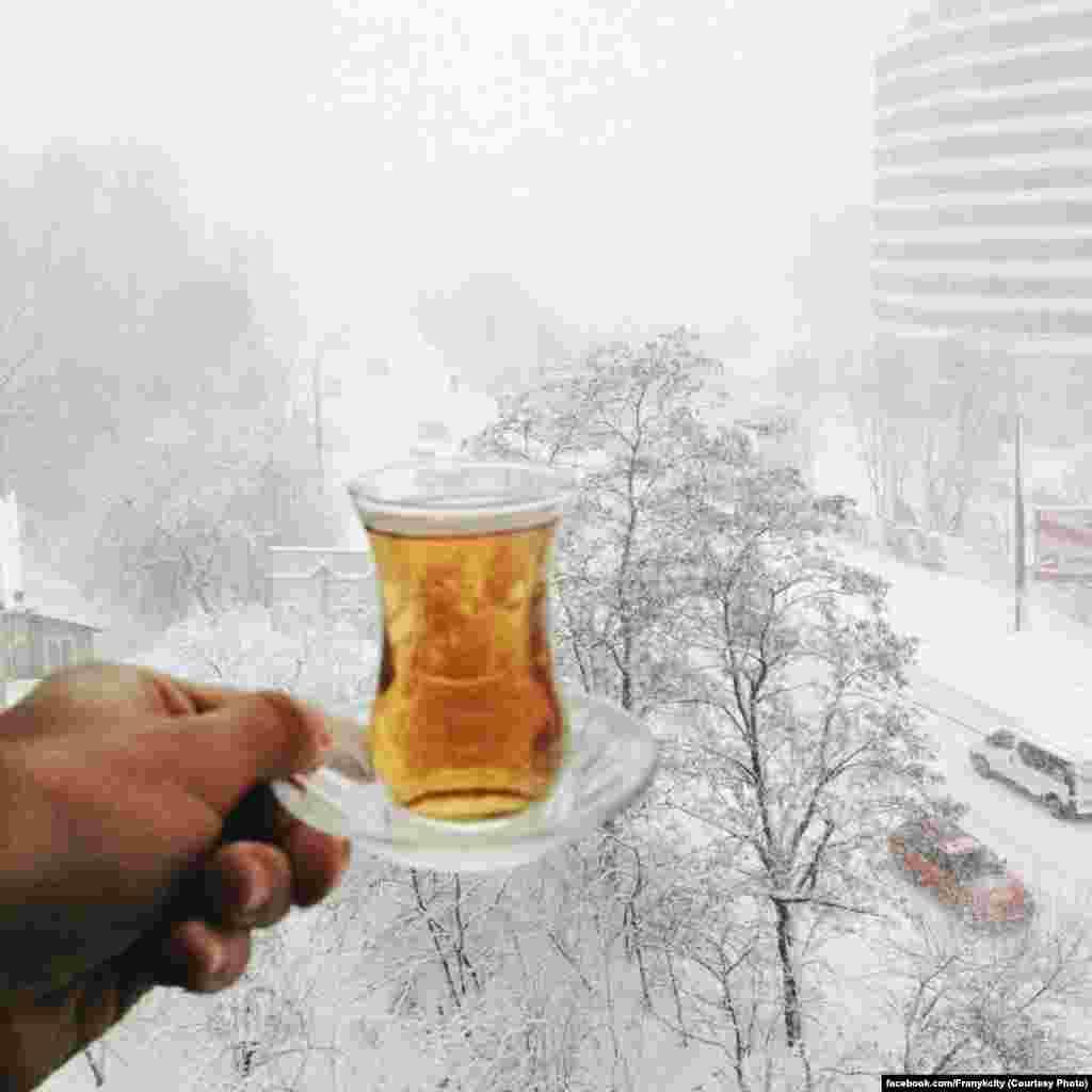 Добрий сніжний ранок у Івано-Франківську