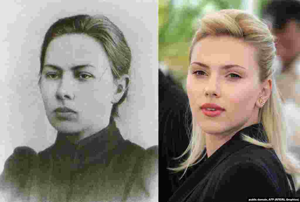 Nadezhda Krupskaya -- Scarlett Johansson, who has ancestral ties to imperial Russia, is uniquely suited to portray the Bolshevik revolutionary and wife of Lenin. ​