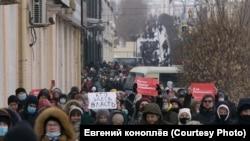 Акция 23 января в Улан-Удэ (архивное фото)
