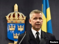 Прадстаўнік ВМФ Швэцыі камандор Ёнас Вікстром